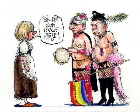 Krarup og langballe som homoer