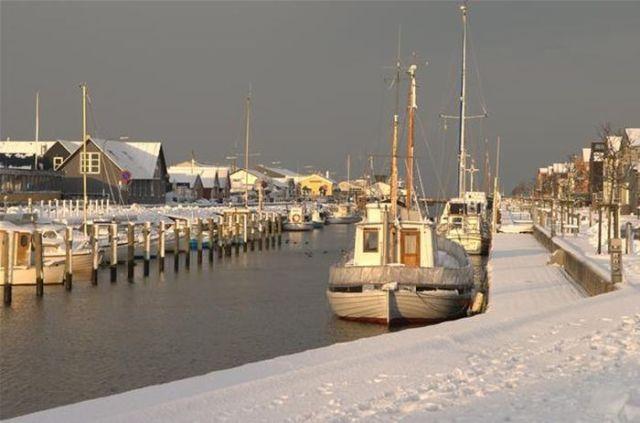 Bogense havn vinter
