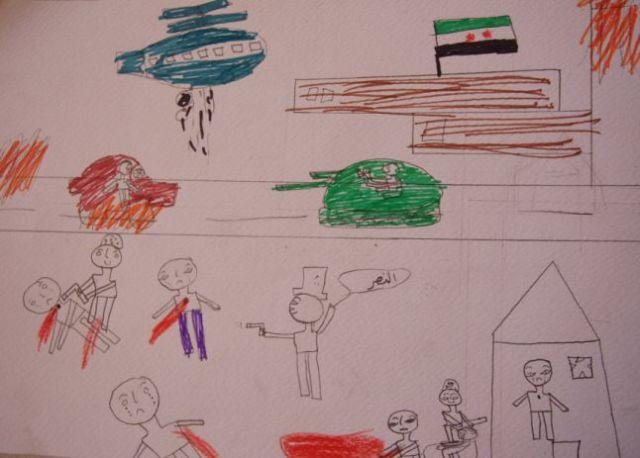 Syrien børnetegning